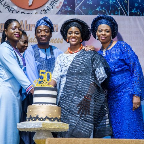 L-R (Joy(Celebrant's daughter), Well-wisher, Celebrant, Wife & Mrs Esther Komaiya)