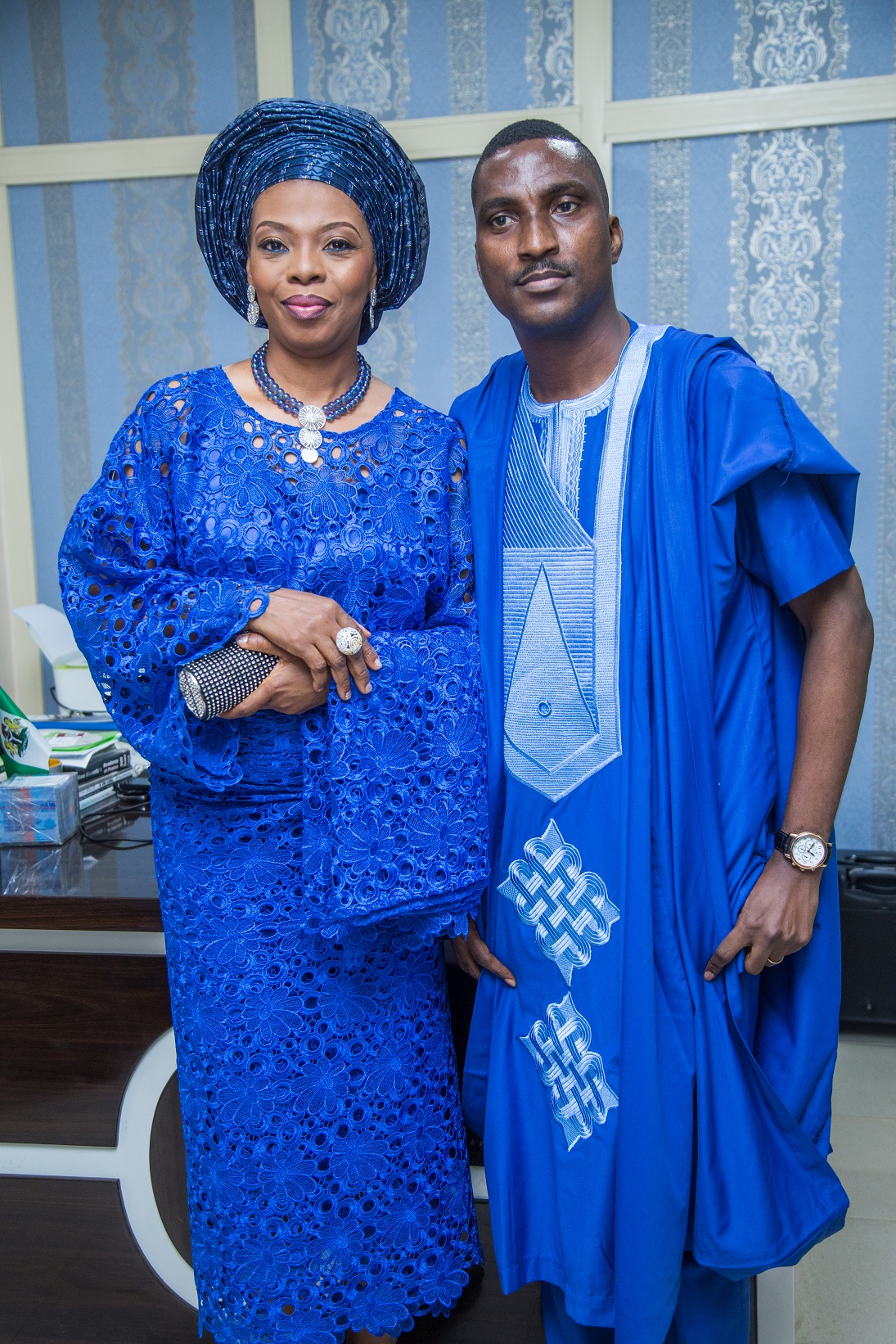 Celebrant's brother, Pastor Korede Komaiya & Wife , Esther Komaiya