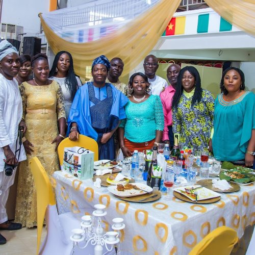 Celebrant, Mr. Yinka Ola-Williams, Mr. Ambrose Okolo and well-wishers